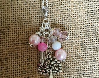 Tree of life beaded pendant.