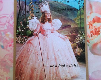 Cult Classic Movie Card - The Wizard of Oz Glinda Which Witch? Handmade Card / Greeting Card