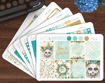 Boho Soul kit, gypsy kit, boho planner stickers, planner stickers, vertical sticker kit