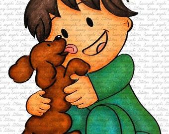 Shy and Puppy digital Stamp by Sasayaki Glitter
