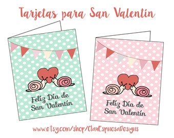 Printable Valentine Day Greeting Card SPANISH***INSTANT DOWNLOAD***