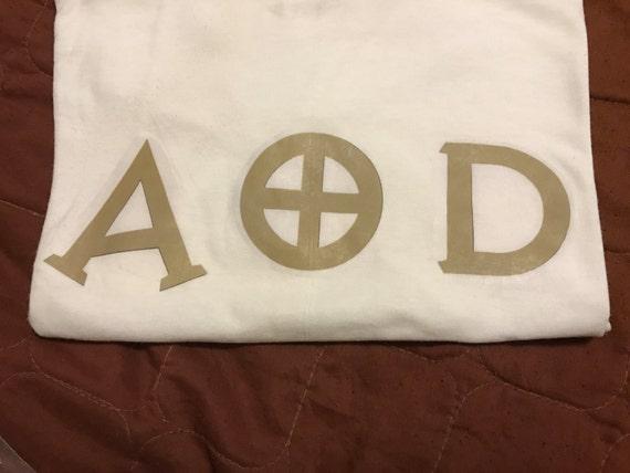 AOD Gold Letter Shirt