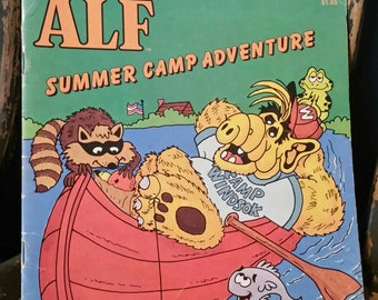 Alf Summer Camp Adventure Checkerboard Press Book/Vintage 1987 Book/By Harry Coe Verr/Collectible Book/1980s TV Series/Collectible Book