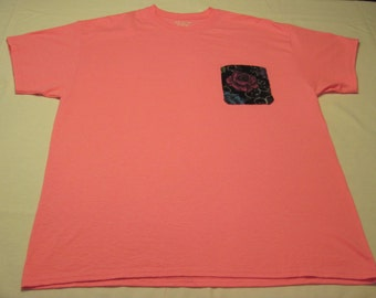 Pink T-shirt with Pink Rose Pocket