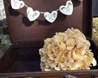 Cards Banner ~ Clay Decor  ~ Wedding Cards ~ Wedding Decor ~ Barn Wedding ~ Bunting