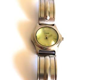 Storm Thunder Glow Designer Wrist Watch - Vintage 1994 Yellow Glow in Dark Rare - Made in Japan