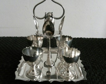 A fabulous antique silver plated four person egg butler or egg server by Martin Hall & Co circa 1890 - FREE UK POSTAGE