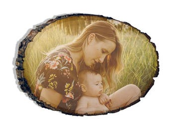 YOUr photo on wood.mother son, summer days, gift for her.