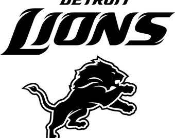 detroit lions nfl logo decal 050