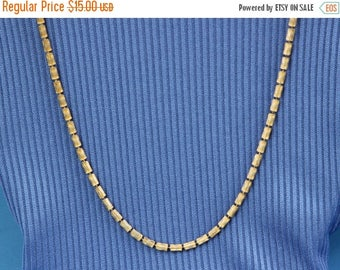 ON SALE Brushed gold necklace