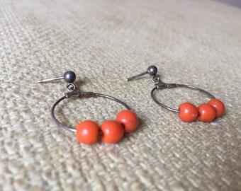 Handmade piece earrings vintage/vintage handa made earring.