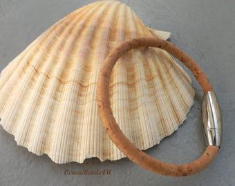 Natural  Portuguese Cork Bracelet A , Unisex Portuguese Cork Bracelet, Kork Armband