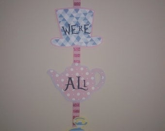 Alice in Wonderland Door sign