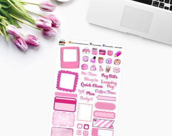 PINK RAINBOW SAMPLER Planner Stickers - CAM00289