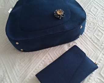 Bag and clutch in felt - Blue Danube Set