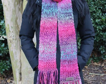 Soft silky knitted scarf