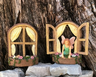 Miniature Fairy and 2 Windows - 2 pc Set