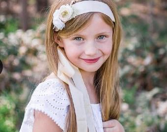silk ribbon velvet ribbon headband little girls headbands hair accessories wedding headband flower accessories flower headband silk flowers
