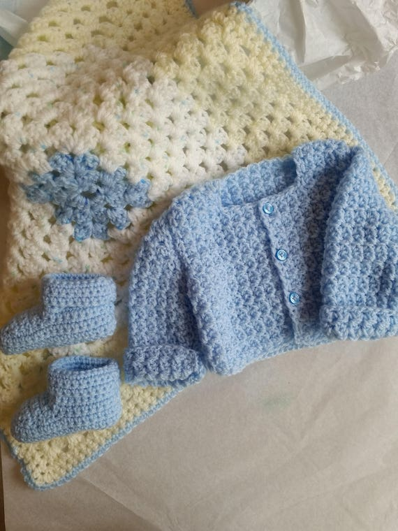 5 Off Coupon On Baby Blue Clothing Set For Baby Boy Crochet Baby