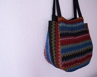 Burmese ethnic pattern handbag