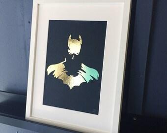 Batman super hero foil print