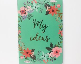 My ideas floral notebook