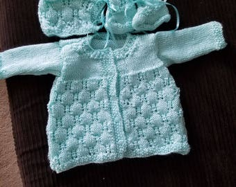 Handmade Knitted Baby Sweater Set-Free Shipping