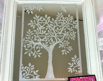 Personalised Family Tree Mirror