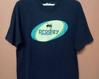 VINTAGE 90's THE PRODIGY Equipment British Electronic Music Rare T-Shirt