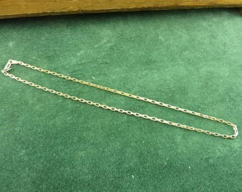 Gold Plated linked chain necklace 44 cm long