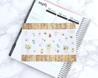 MATTE Rustic Romance Decorative Planner Stickers