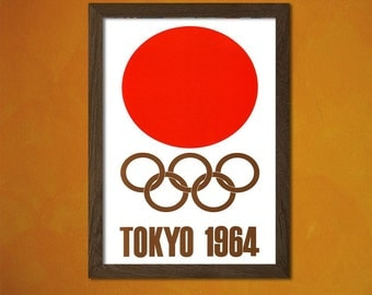 FINE ART REPRODUCTION Olympic Games Tokyo Japan 1964 Olympic Game Poster Tokyo Poster Japanese Poster Olympic Prints