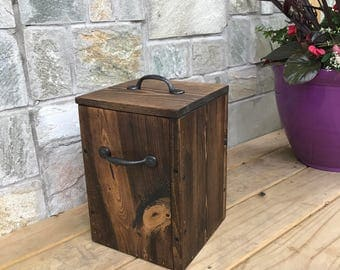 rustic garbage can with lid bathroom trash can 3 gallons office