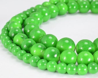 Green Glass Beads Round 6mm/10mm/12mm Shine Round Beads For Jewelry Making Item#789222045593