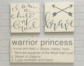 READY TO SHIP - Warrior Princess Definition Sign (Not all 3)  10 x 24