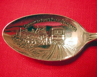 "Sterling Pikes Peak Colorado Souvenir Spoon, 5 1/8"" by Watson"