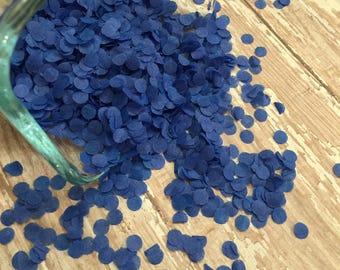 Blue Tissue Paper Confetti, MINI DOT Confetti, confetti balloon, funfetti, wedding confetti, brilliant blue table decor, baby boy shower
