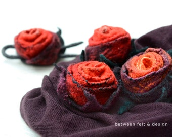 Brooch Women's accessories Mother's day gift Weddings gift Felted Rose