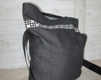 Shoulder bag envelope bag black zip box