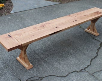 Farmhoues Trestle Bench, Farmhouse Bench, Dining Bench, Wood Bench, Reclaimed Wood Bench