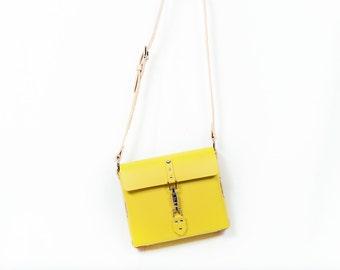 Mini Leather purse, leather bag, messenger bag. Handmade in the USA