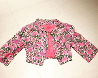 1950s Cropped Floral Jacket