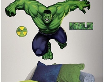 Today only 10% off Marvel the hulk birthday/bedroom stick and peel wall decal decor