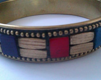 brass inlaid bangle