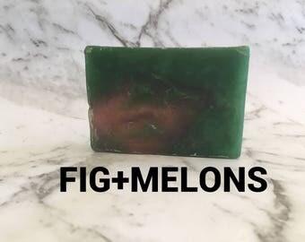 Fig and Melon - Greenery - fruit soap - Arabian nights - glycerine soap - handmade vegan soap - natural soap - NZ Made - gift ideas - gift