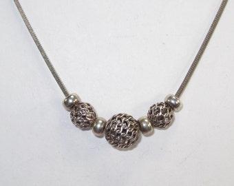 E-46 Vintage Necklace choker 925 silver