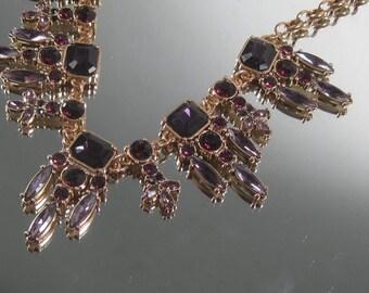 Vintage Amethyst Sim Goldtone Victorian Styled 3-8-17