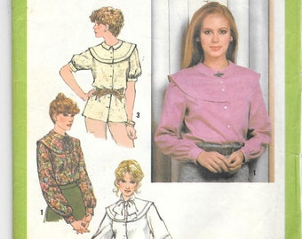 Vintage 1979 Simplicity 9139 Misses Round Necked Blouse Size 14 Bust 36
