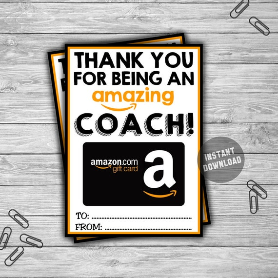 PRINTABLE Amazon Gift Card Holder INSTANT DOWNLOAD Thank