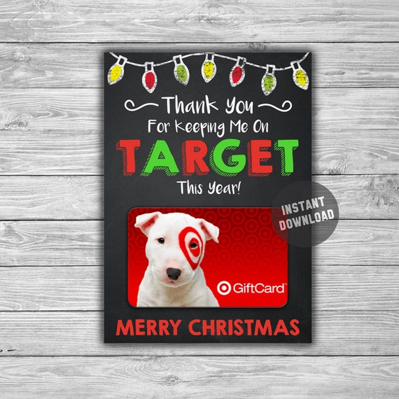 printable christmas gift card holder target instant download. Black Bedroom Furniture Sets. Home Design Ideas